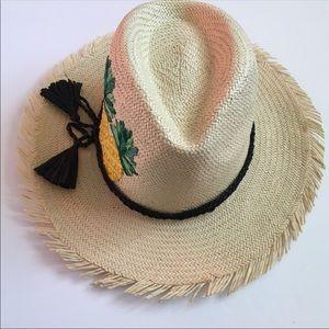 Kate Spade Pineapple Straw Hat